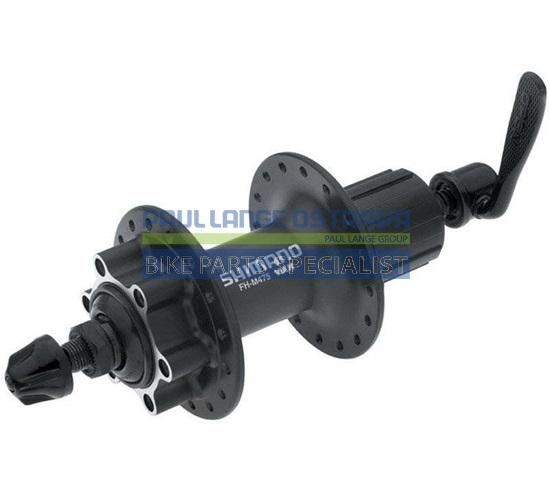 SHIMANO nába zadní DEORE FH-M475 pro kotouč (6 šroub) 8/9/10 rychl 32 děr RU: 166 mm černá