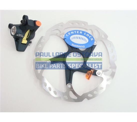 SHIMANO brzda XTR BR-M975 kotouč zadní hydraul třmen kovové + polymer bez adapt