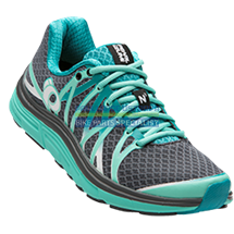 PEARL iZUMi obuv W EM ROAD N3, SHADOW šedá/AQUA MINT, EU 39, UK 5,5, US 14