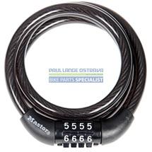 MasterLock Spirálový kabelový zámek 1.20m x 8mm 4 číselná kombinace, vinylový potah, černý
