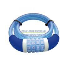 MasterLock Ocelový kabelový zámek 1.20m x 10mm 4 číselná nastavitelná kombinace, vinylový potah - m