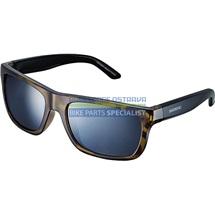 SHIMANO brýle S23X, hnědátortoise(Bekko)-černá, skla kouřová stříbrná zrcadlová
