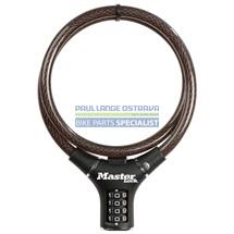 MasterLock kabelový zámek 90cm x 12mm, kód, nylonový potah