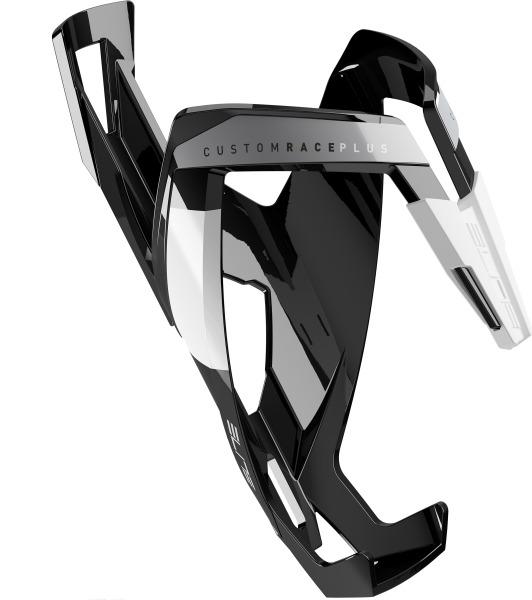 ELITE košík CUSTOM RACE PLUS  lesklý černý/bílý