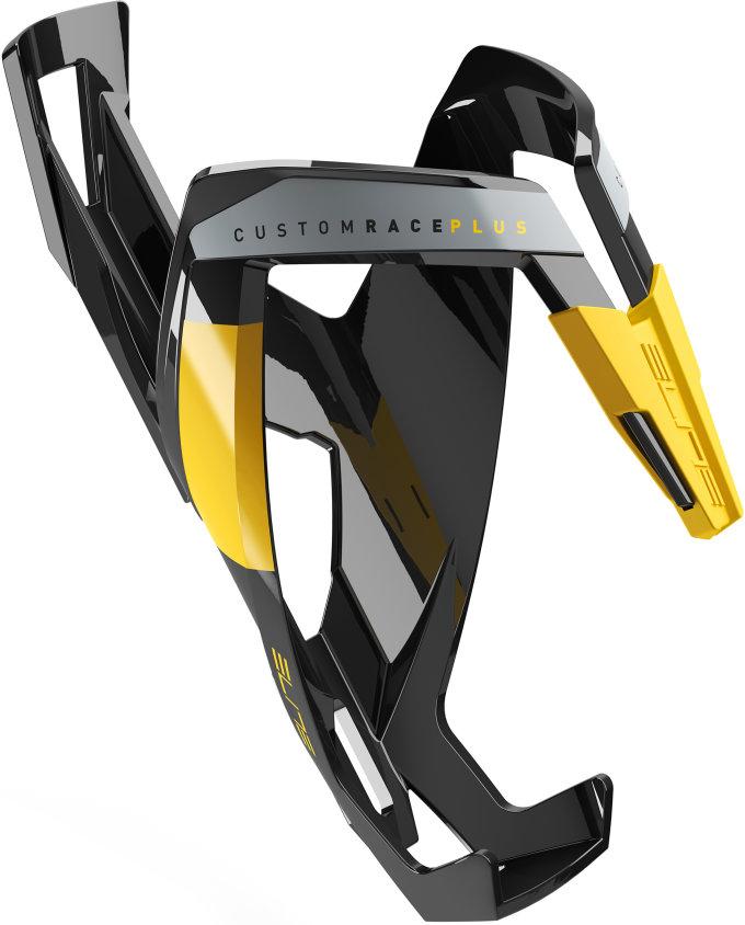 ELITE košík CUSTOM RACE PLUS  lesklý černý/žlutý