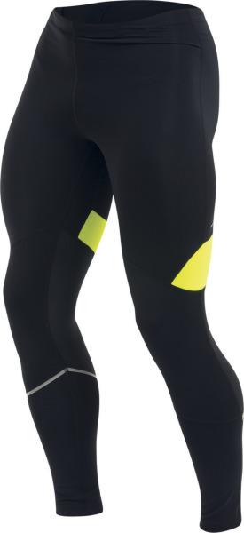 PEARL iZUMi FLY kalhoty, černá/SCREAMING žlutá, XL