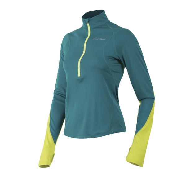 PEARL iZUMi W FLY dres s dlouhým rukávem, zelená/žlutá, L
