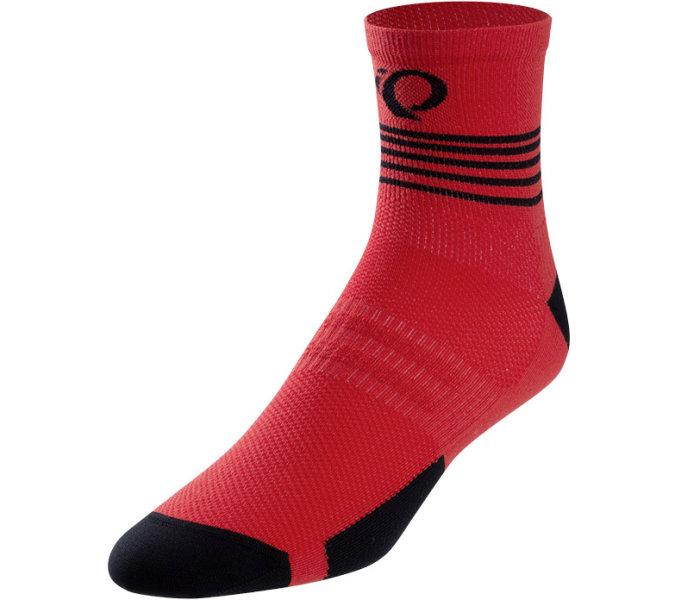 PEARL iZUMi ELITE ponožky, ROGUE červená DIFFUSE, XL