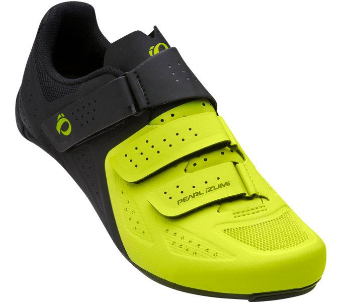 PEARL iZUMi obuv SELECT ROAD v5, černá/LIME, 41.0