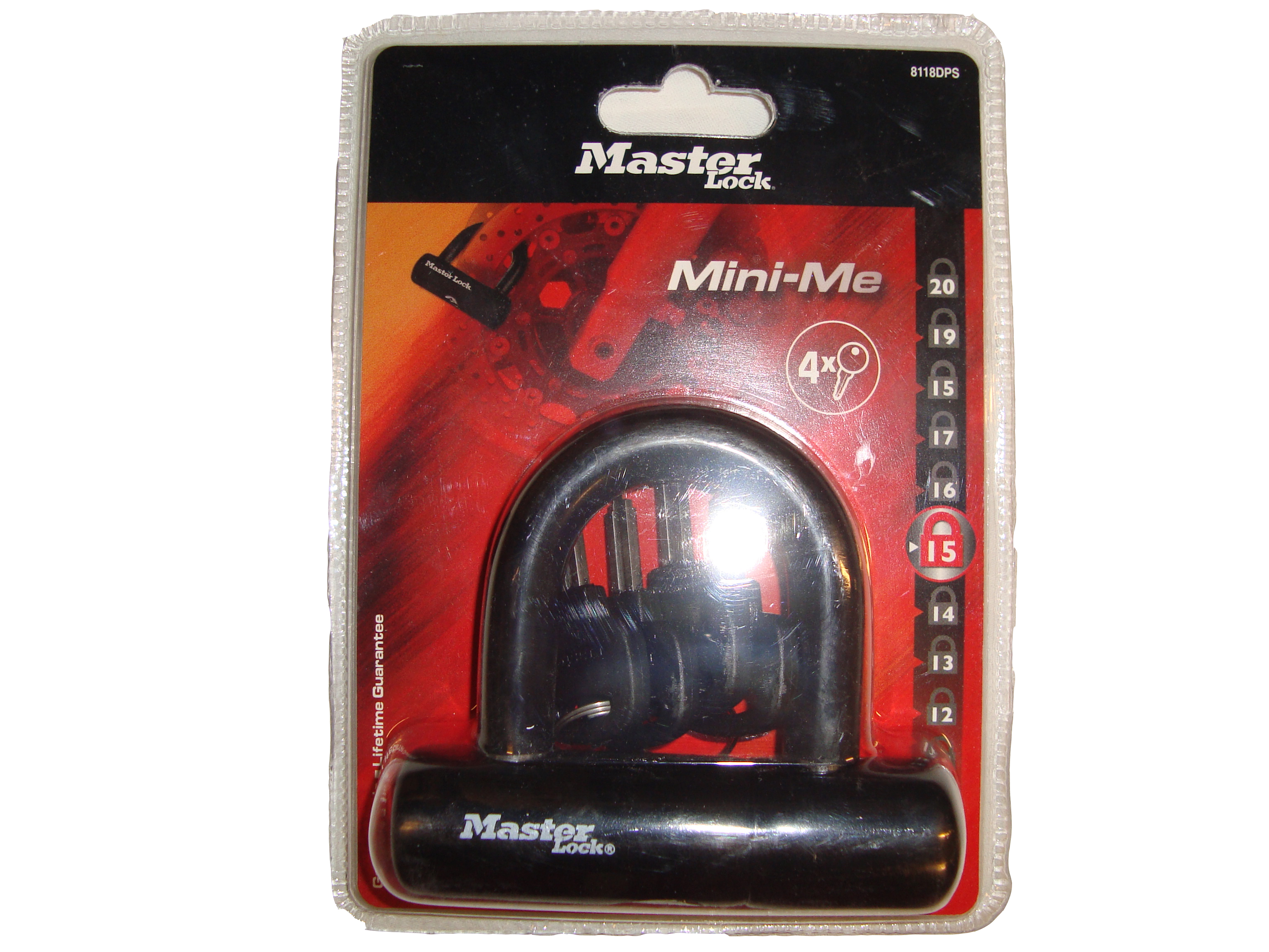 MasterLock minipodkova, 93x47x14 mm, (8118)