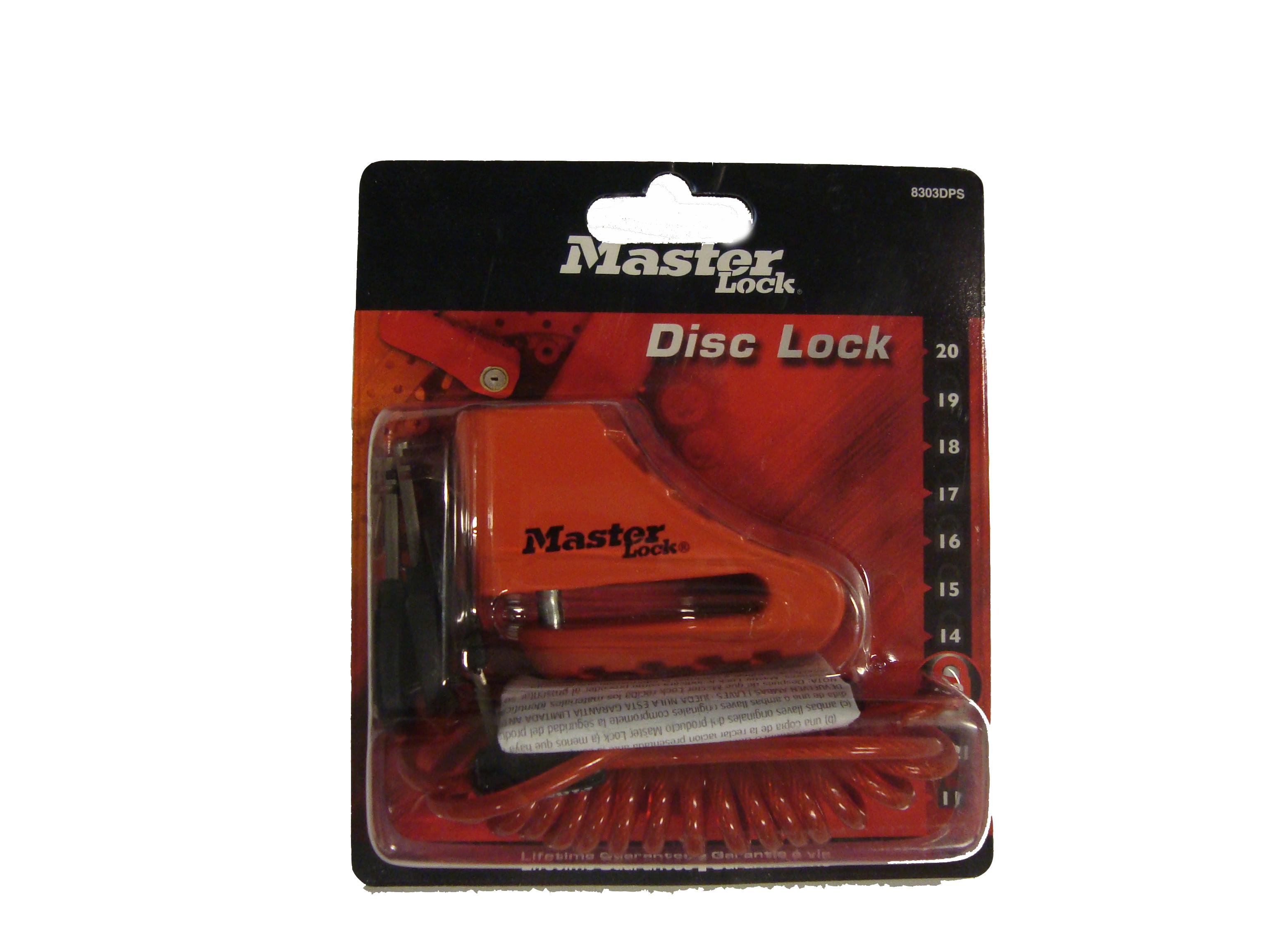 MasterLock zámek na brzdový disk, 80 mm, (8303)