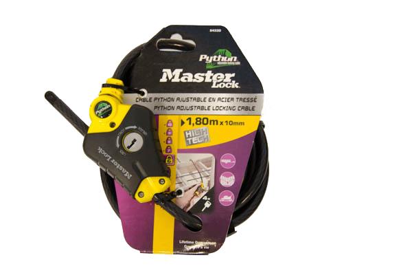 MasterLock zámek Python kompakt /8433 (1,8m x 10mm)
