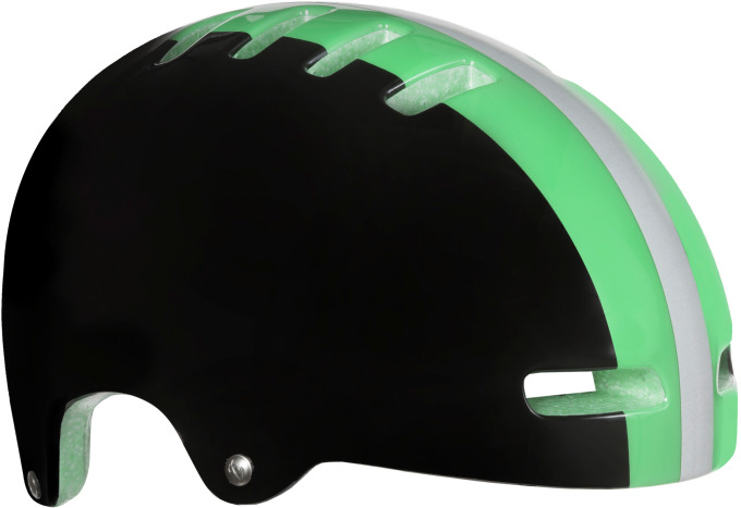 LAZER přilba  ARMOR černá se zeleným pruhem M 55-59 cm
