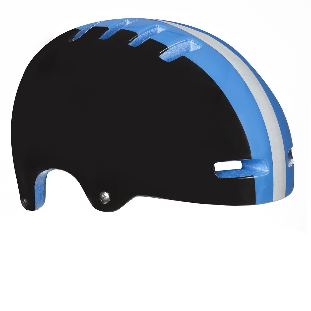 LAZER přilba  ARMOR černá s modrým pruhem M 55-59 cm