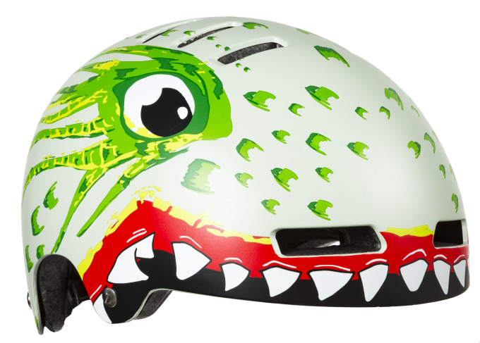LAZER dětská přilba Street Jr Dragon Green 52-56 cm