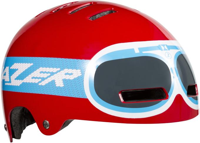 LAZER dětská přilba Street Jr Goggle Red 52-56 cm