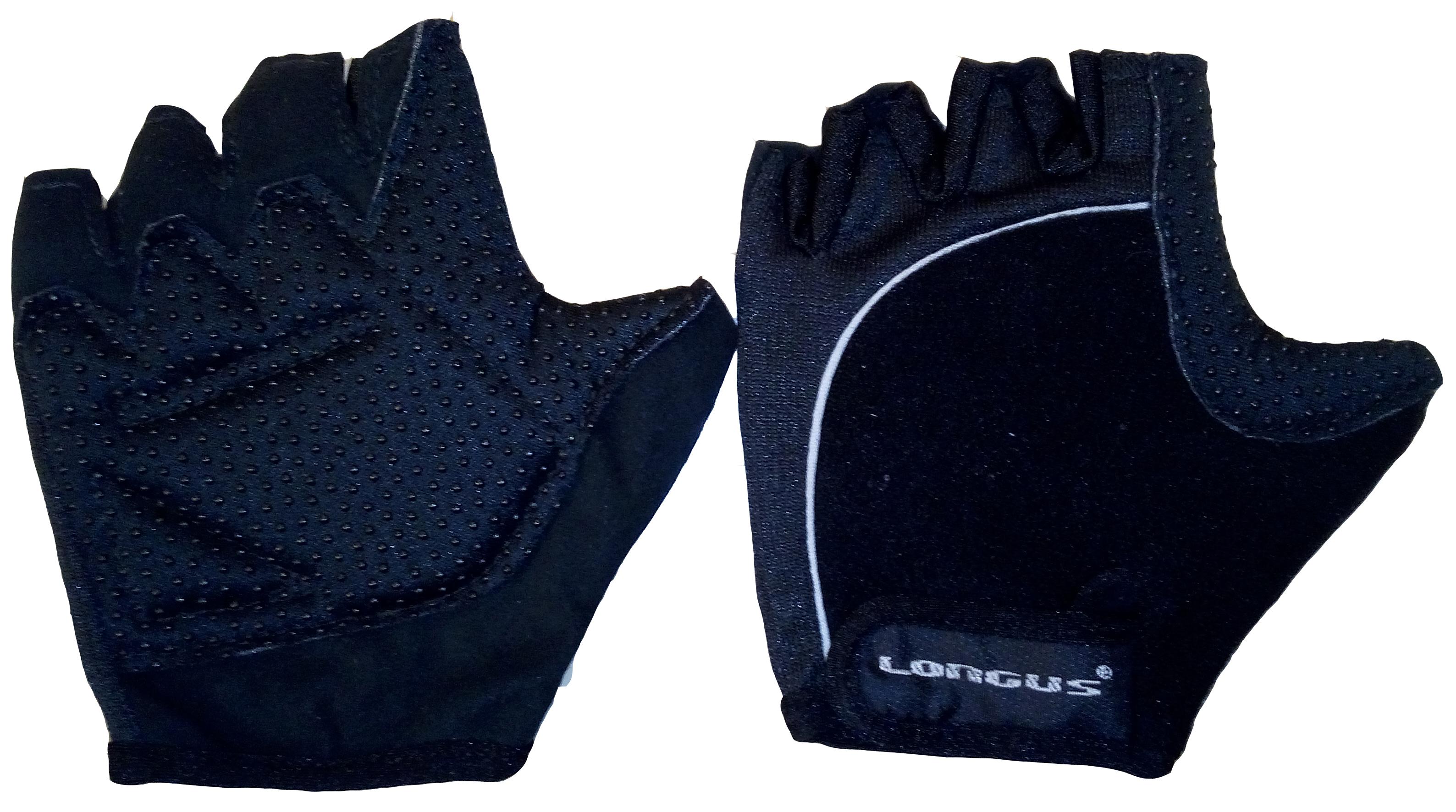 LONGUS rukavice ROAD, černé, L