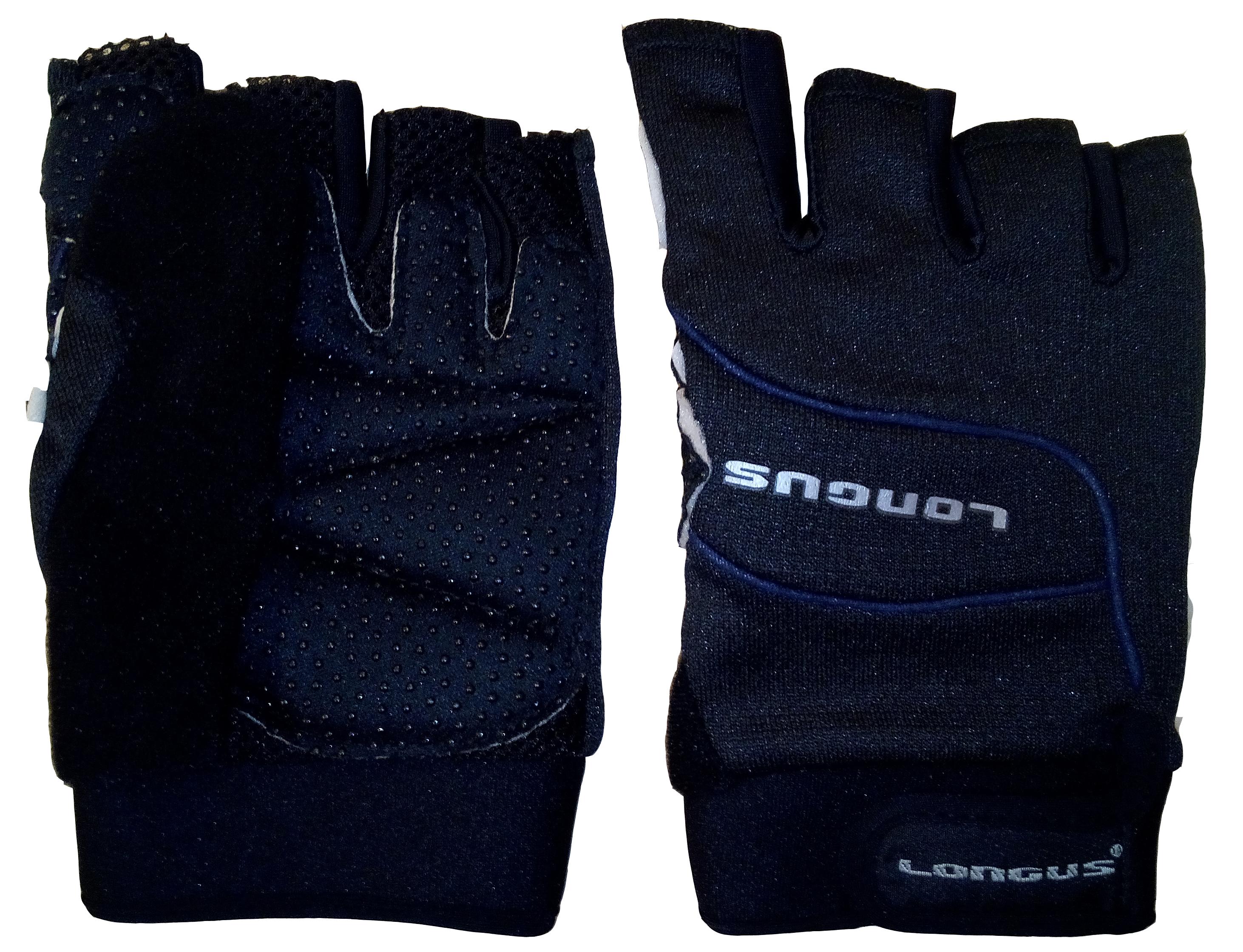 LONGUS rukavice MTB, černé, L