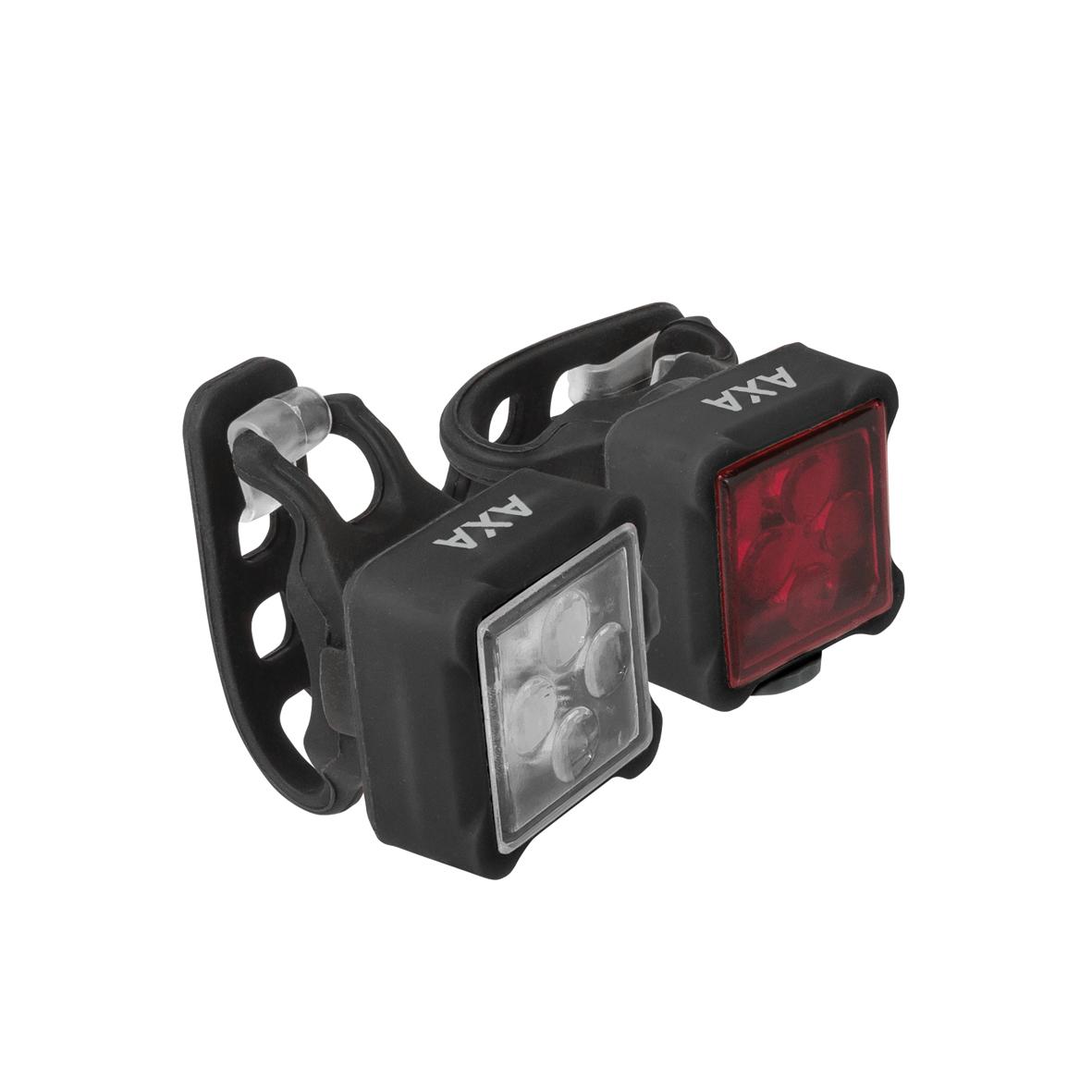 AXA NITELINE 44 set přední a zadní LED světlo