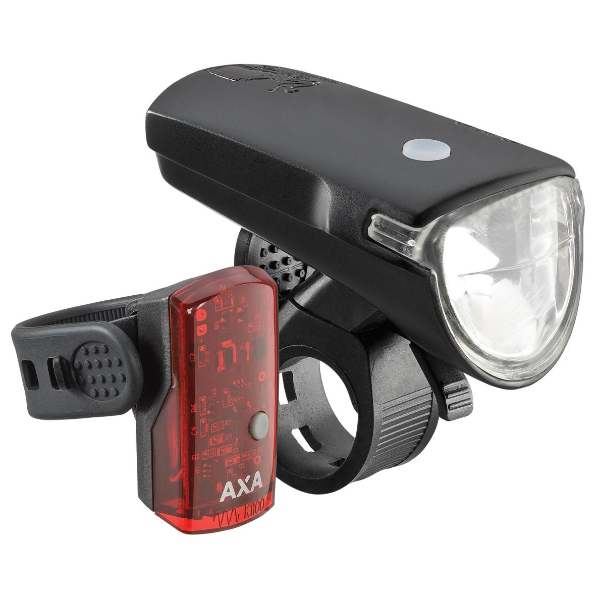 AXA GREENLINE set 35 lux / USB nabíjení / indikátor baterie / zadní světlo 1 LED