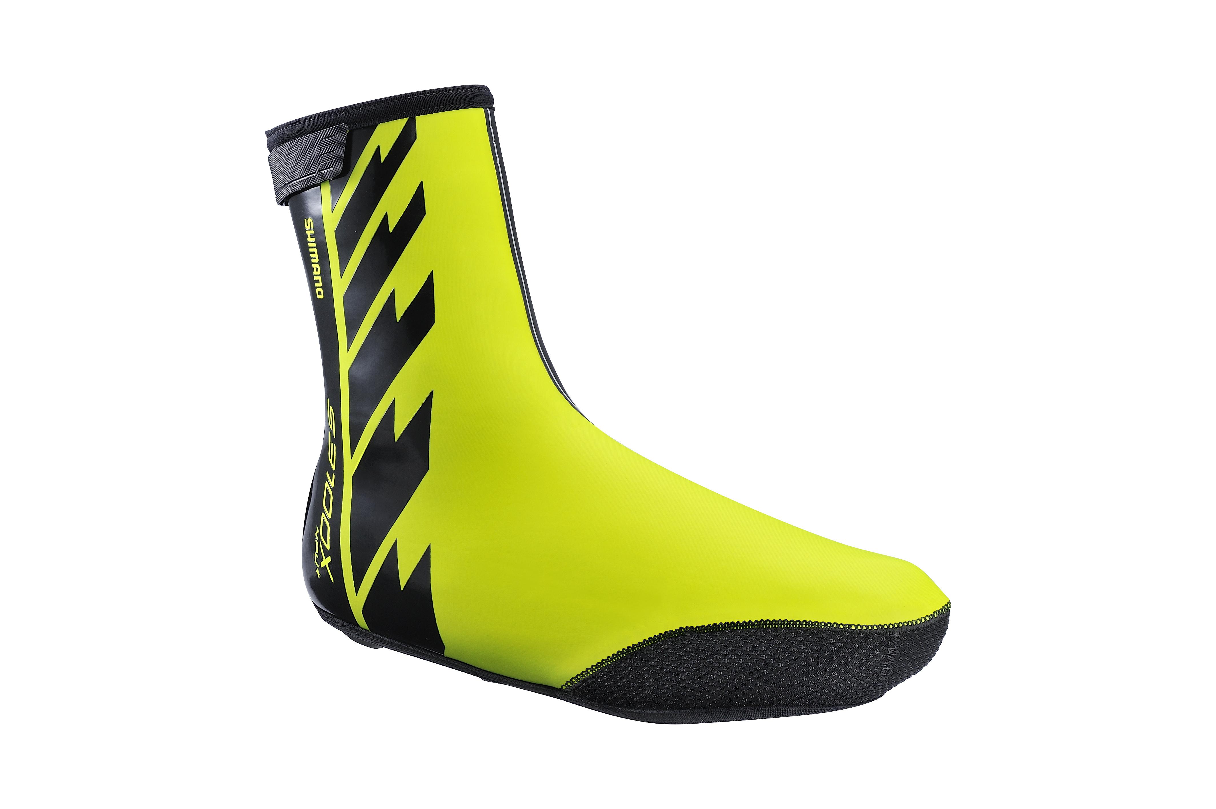 SHIMANO S3100X NPU+ návleky na obuv, Neon žlutá, M