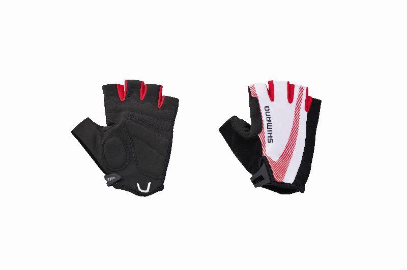 Shimano rukavice BASIC race, červená, M