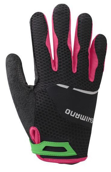 Shimano Explorer dámské rukavice, celoprsté, černá/jazzberry, L