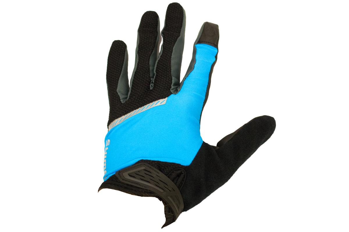 Shimano Original celoprsté rukavice, černá/modrá, M