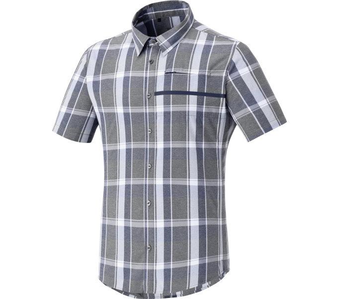 SHIMANO Transit Check tričko s knoflíčky - krátký rukáv, Námořní Blazer, M