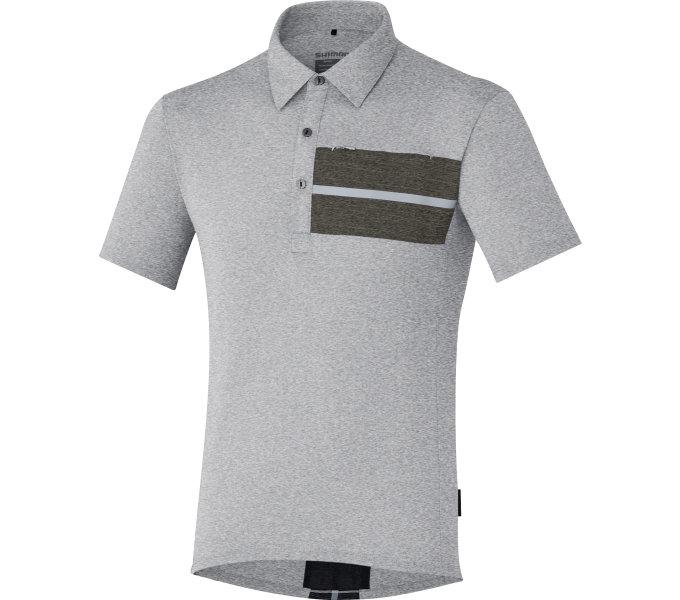 SHIMANO Transit Polo tričko, Hliníková, L