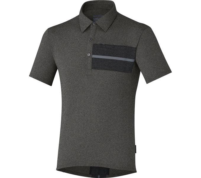 SHIMANO Transit Polo tričko, Havraní, M