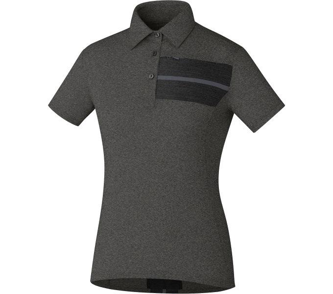 SHIMANO dámské Transit Polo tričko, Havraní, (W's size)S