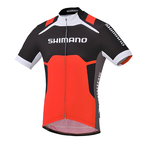 SHIMANO dres s potiskem, červená, M