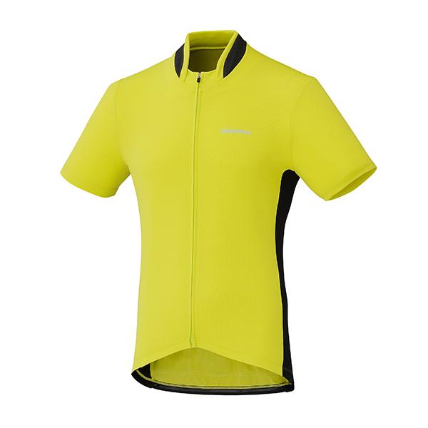 SHIMANO dres, celopropínací, žlutá, L