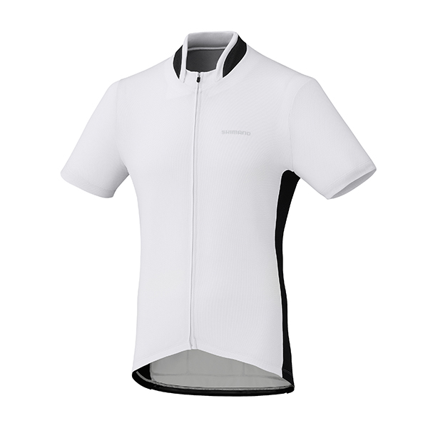 SHIMANO dres, celopropínací, bílá, M