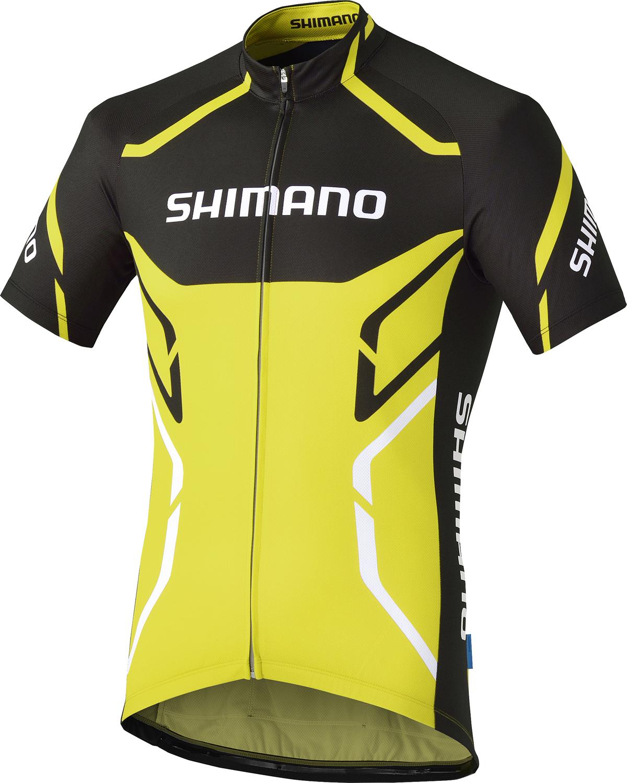 SHIMANO PRINT dres krátký rukáv, lime žlutá, M