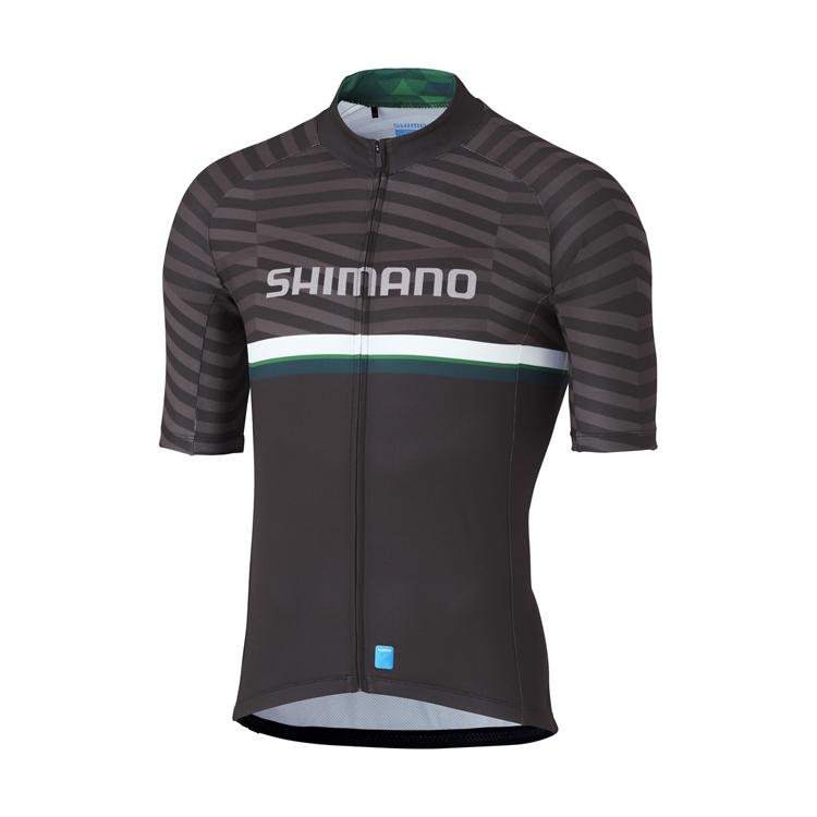 SHIMANO TEAM dres, černý/zelený, M