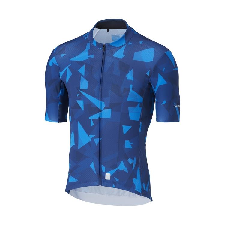 SHIMANO BREAKAWAY dres, modrý, M