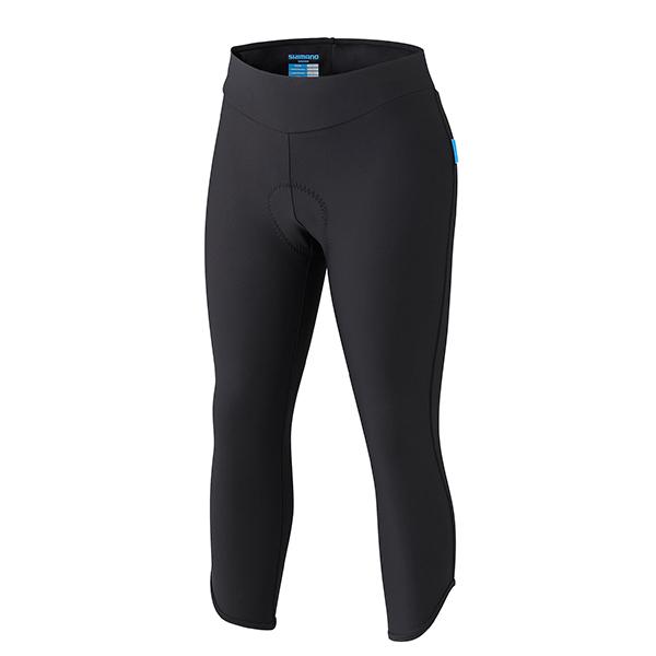 SHIMANO 3/4 kalhoty SHIMANO, dámské, černá, M