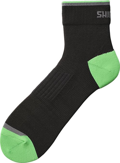SHIMANO NORMAL kotníkové ponožky, černá/island zelená, M