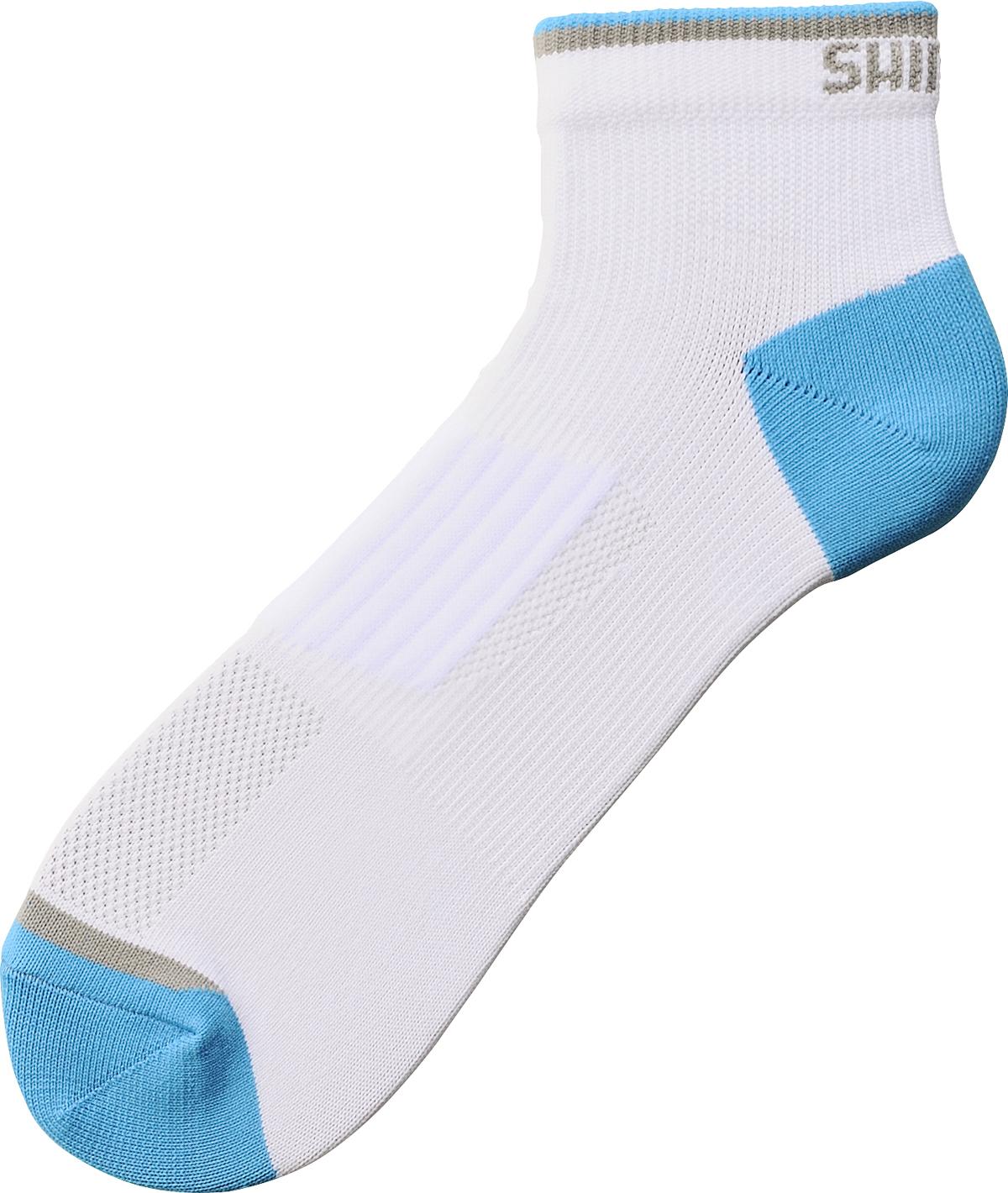 SHIMANO LOW kotníkové ponožky, bílá, M