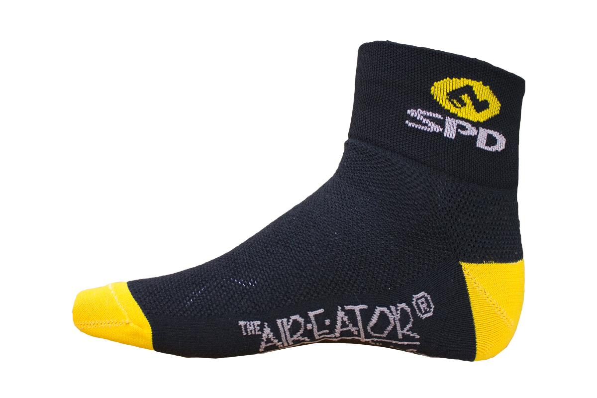 SHIMANO ponožky, černá/žlutá, XL