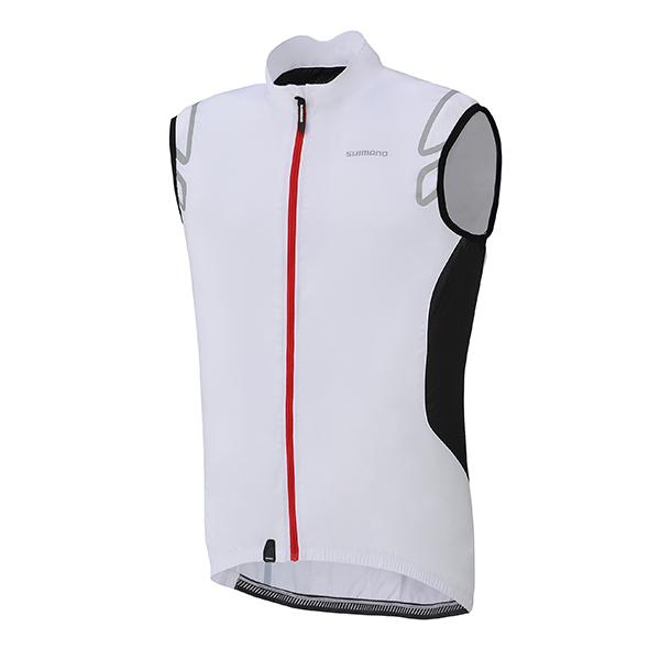Shimano Compact Wind vesta, bílá, L