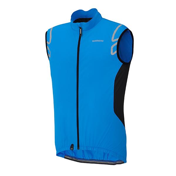 Shimano Compact Wind vesta, cobalt modrá, M
