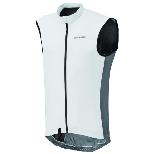 Shimano vesta proti větru, kompakt, bílá, M