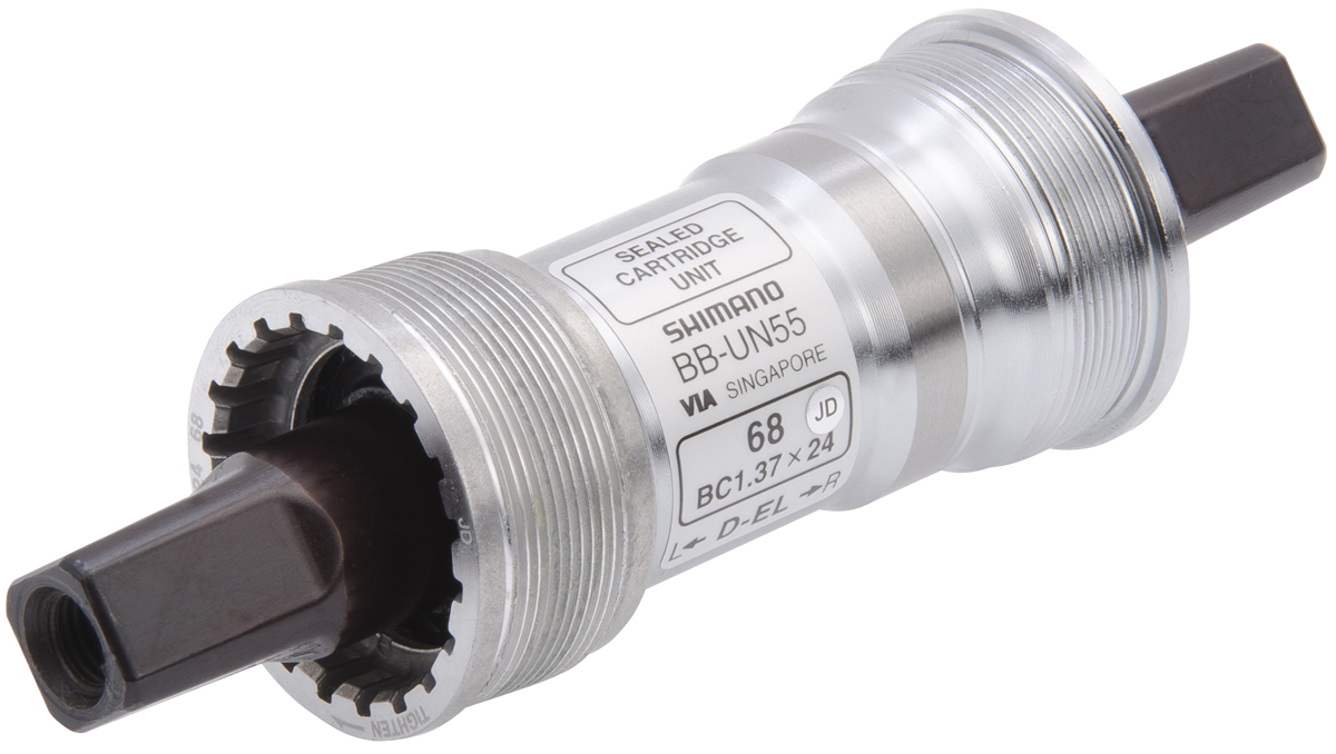 SHIMANO středové složení LX BB-UN55 osa 4hran 68 mm 127,5 mm BSA