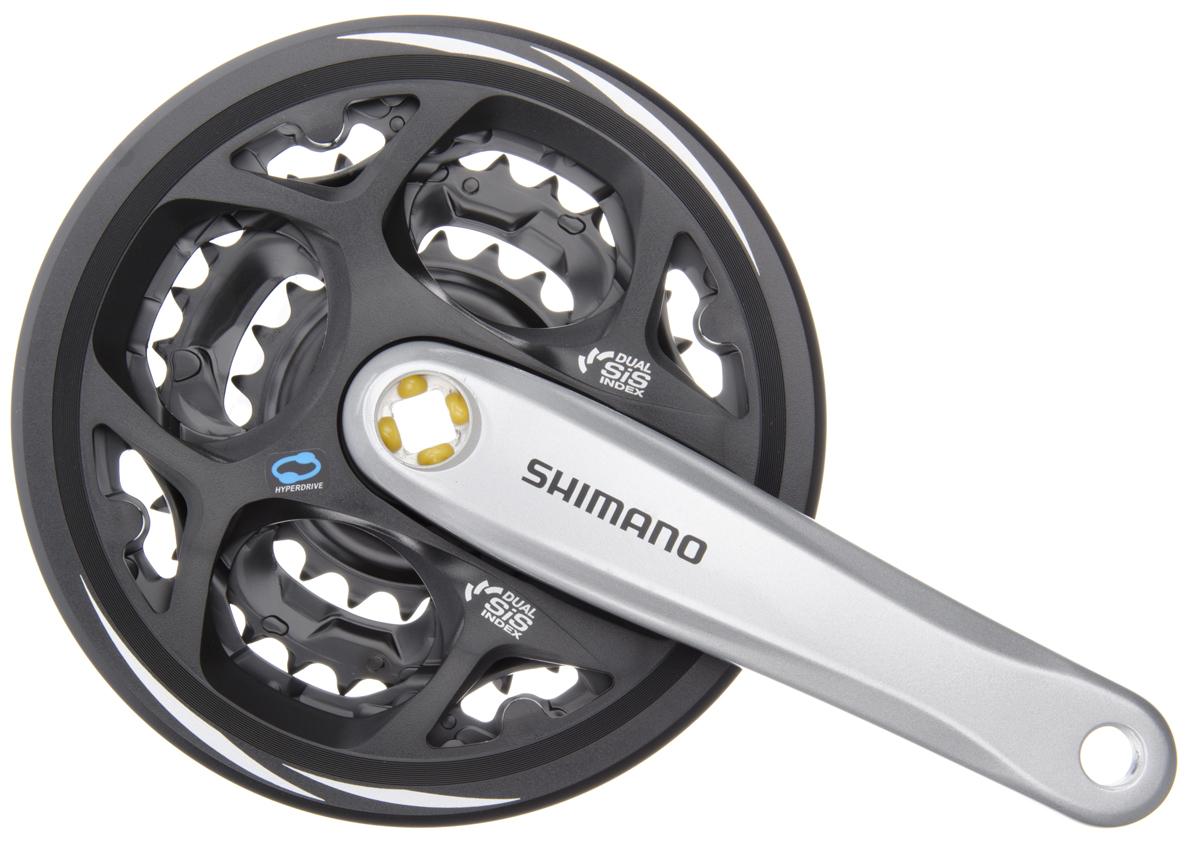 SHIMANO kliky ALTUS FC-M311 4hran 3x7/8 170 mm 42x32x22z s krytem stříbrné