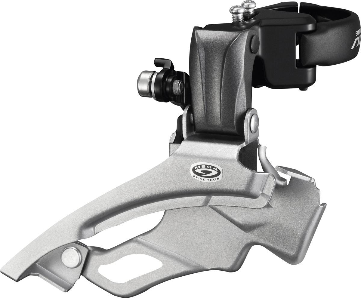 Shimano přesmykač ALTUS FD-M371 MTB pro 3x9 obj. 34,9/31,8 + 28,6 Down-swing dual pull 44/48 z