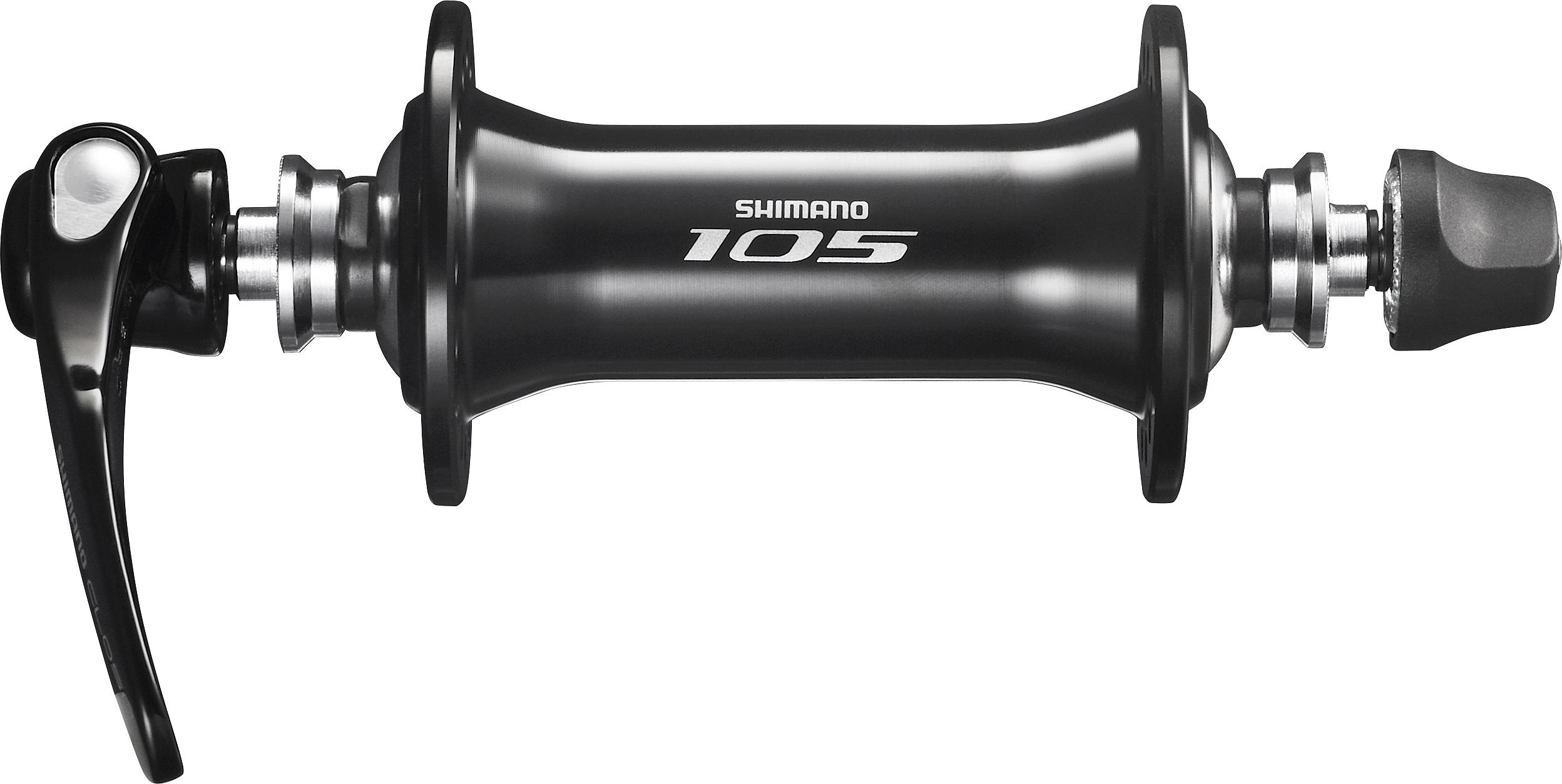 Shimano nába přední 105 HB-5800 pro ráfkovou brzdu 36 děr RU: 133 mm černá