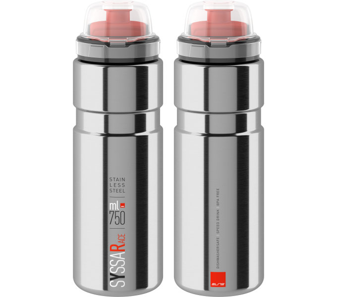 ELITE láhev SYSSA 21' RACE stříbrná lesklá, 750 ml
